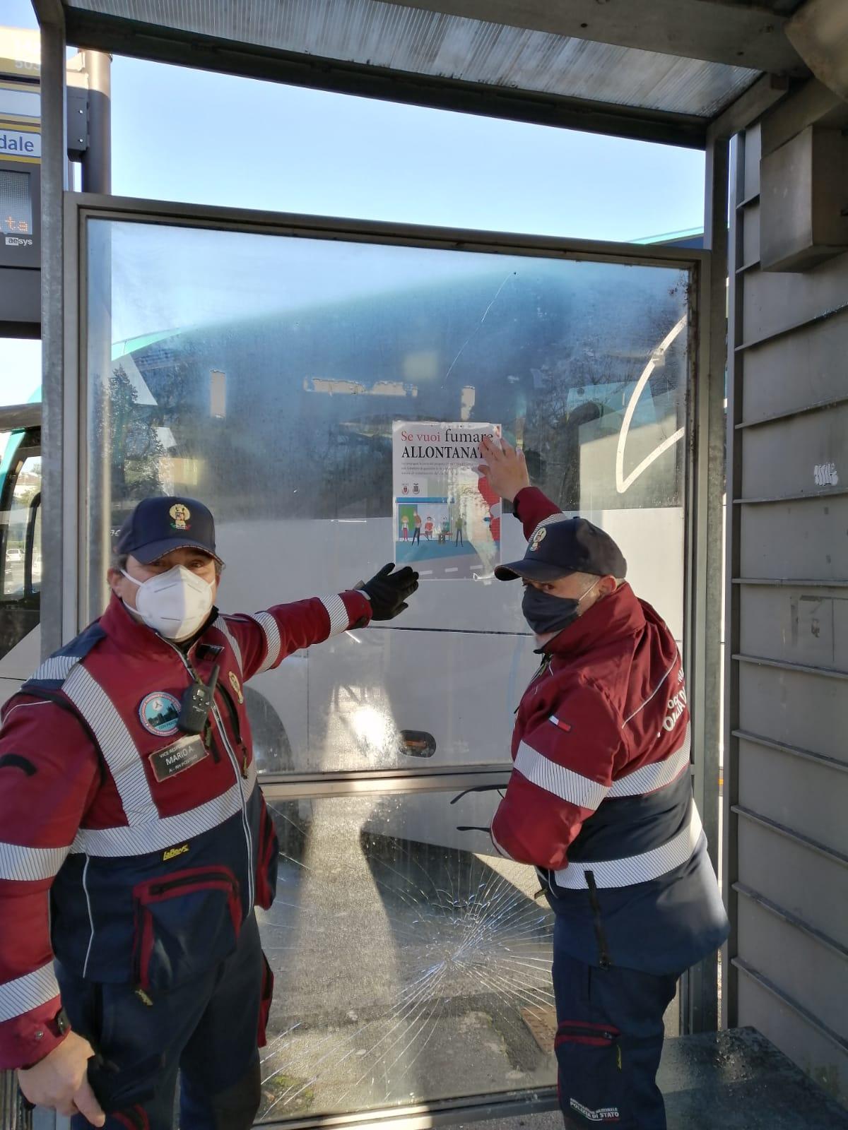 Volontari impegnati nella campagna